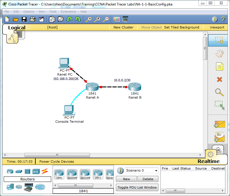 Cisco Router Basic Network Configuration CCNA Lab 1 1