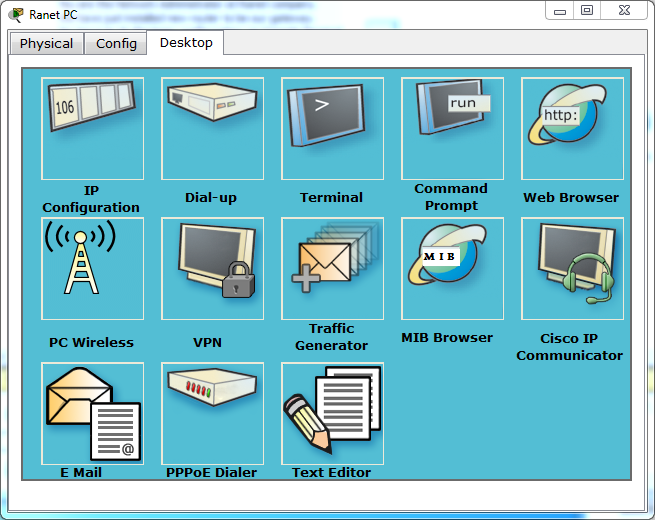 To telnet from Ranet PC, open the Ranet PC desktop and click the command prompt.