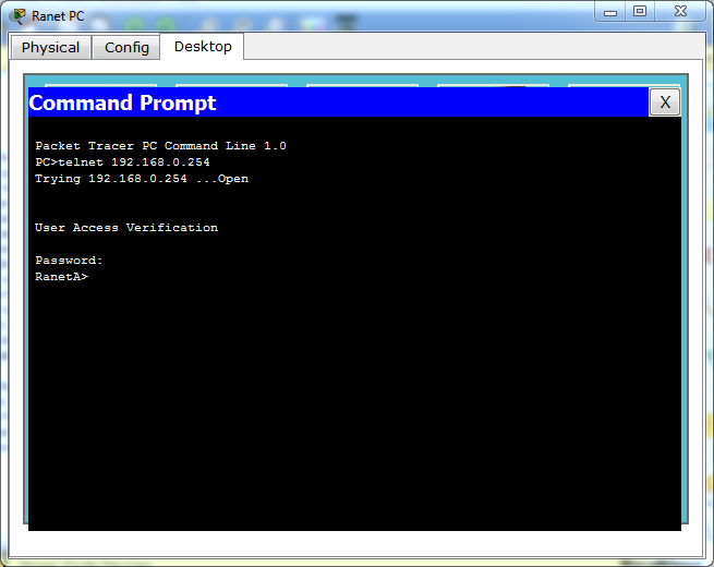 "In the command prompt type ""telnet 192.168.0.254 ranettelnetpass""."